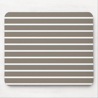 Tan Brown Horizontal Stripe Pattern Mouse Pad