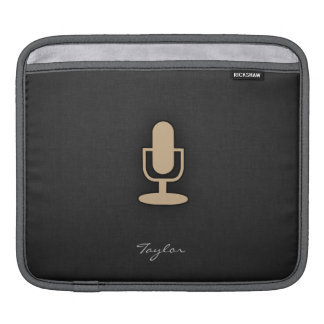 Tan Brown Microphone iPad Sleeve