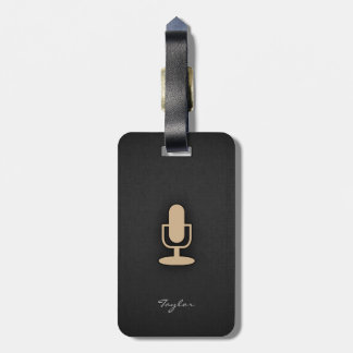 Tan Brown Microphone Tags For Bags
