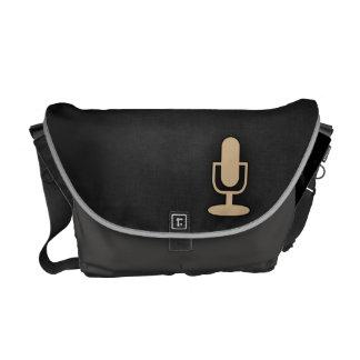Tan Brown Microphone Messenger Bags