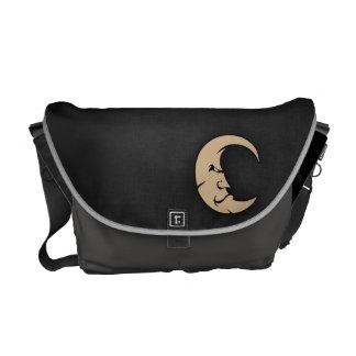 Tan Brown Moon Courier Bag
