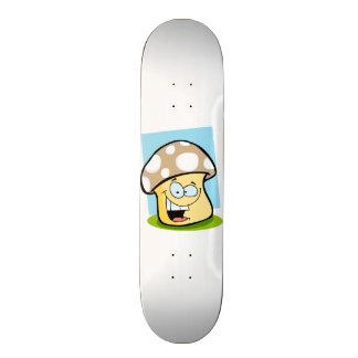 Tan Brown Mushroom Skateboard
