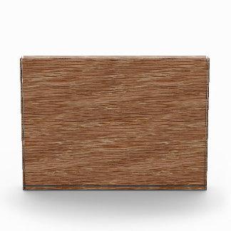 Tan Brown Natural Oak Wood Grain Look Acrylic Award
