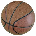 Tan Brown Natural Oak Wood Grain Look Basketball