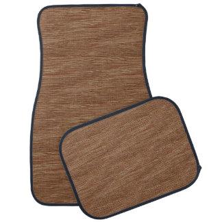 Tan Brown Natural Oak Wood Grain Look Car Mat