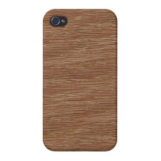 Tan Brown Natural Oak Wood Grain Look Case For iPhone 4