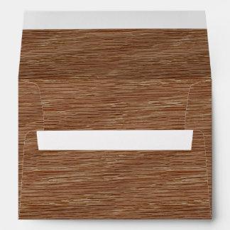 Tan Brown Natural Oak Wood Grain Look Envelope