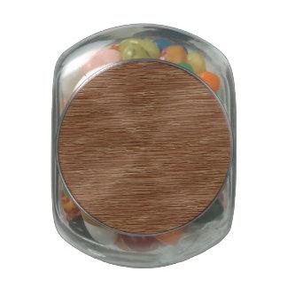Tan Brown Natural Oak Wood Grain Look Jelly Belly Candy Jars