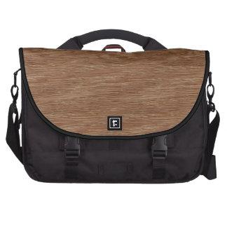 Tan Brown Natural Oak Wood Grain Look Commuter Bags