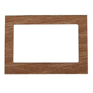 Tan Brown Natural Oak Wood Grain Look Magnetic Photo Frame