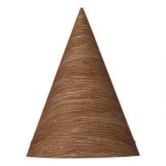 Tan Brown Natural Oak Wood Grain Look Party Hat