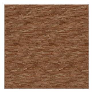 Tan Brown Natural Oak Wood Grain Look Poster