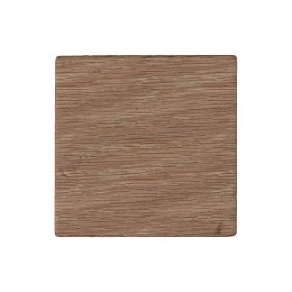 Tan Brown Natural Oak Wood Grain Look Stone Magnet