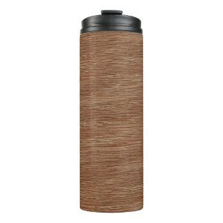 Tan Brown Natural Oak Wood Grain Look Thermal Tumbler