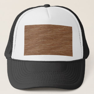 Tan Brown Natural Oak Wood Grain Look Trucker Hat