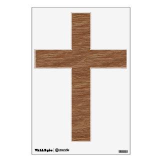 Tan Brown Natural Oak Wood Grain Look Wall Sticker