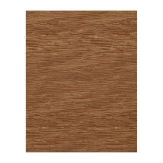 Tan Brown Natural Oak Wood Grain Look Wood Print