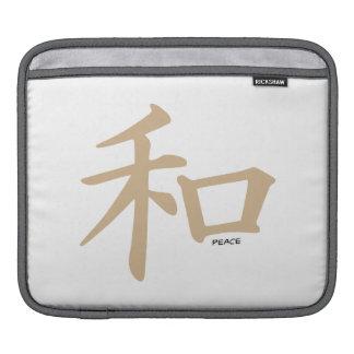 Tan Brown Peace iPad Sleeves