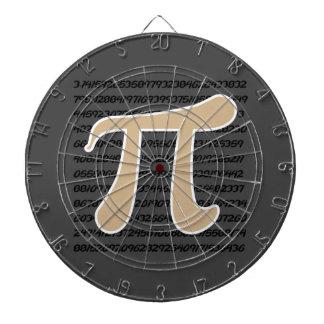 Tan Brown Pi symbol Dart Boards