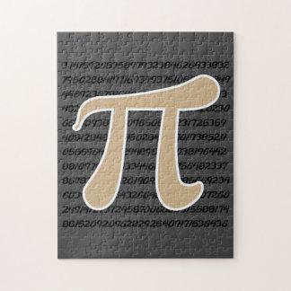 Tan Brown Pi symbol Puzzle