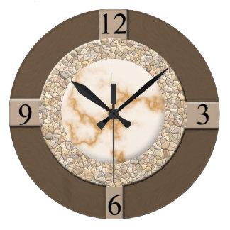 Tan/Brown/Stone Wall Clock