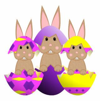 Tan Bunny Easter Eggs Photo Cutouts
