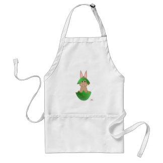 Tan Bunny Green Christmas Ornament Merry Christmas Adult Apron
