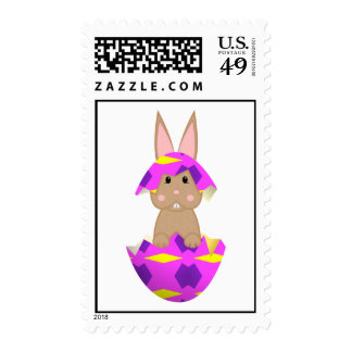 Tan Bunny In A Pink Egg Postage