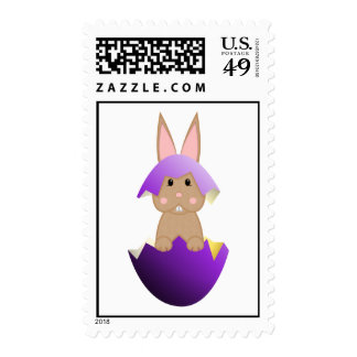 Tan Bunny In A Purple Egg Postage