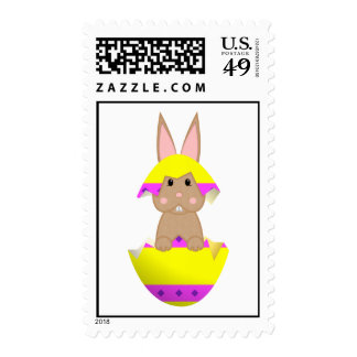 Tan Bunny In A Yellow Egg Stamps