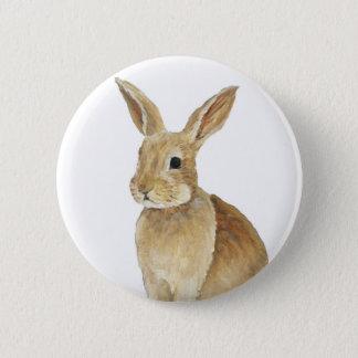 """Tan Bunny"" Rabbitt Art Button"