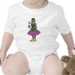 Tan cadera, niños y camisas de los bebés trajes de bebé