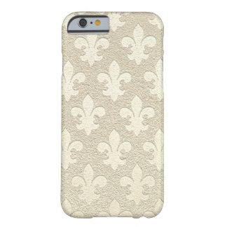 Tan champagne royal elegant business fleur de lis barely there iPhone 6 case