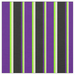 [ Thumbnail: Tan, Chartreuse, Indigo, Black, and White Lines Fabric ]