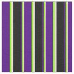 [ Thumbnail: Tan, Chartreuse, Indigo, Black, and White Lines Fabric ]