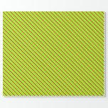 [ Thumbnail: Tan, Chartreuse, Yellow & Dark Red Colored Lines Wrapping Paper ]