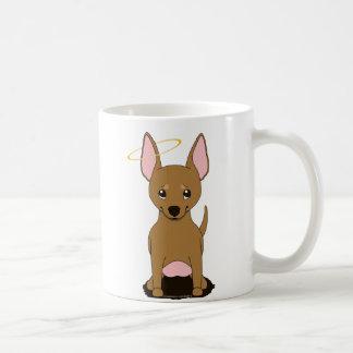 Tan Chihuahua Angel Halo Classic White Coffee Mug