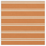 [ Thumbnail: Tan & Chocolate Colored Pattern of Stripes Fabric ]