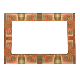 Tan color abstract design magnetic frame