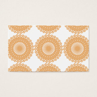 Tan Color Lace Pattern. Business Card