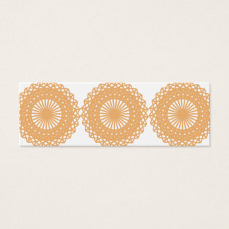 Tan Color Lace Pattern. Mini Business Card