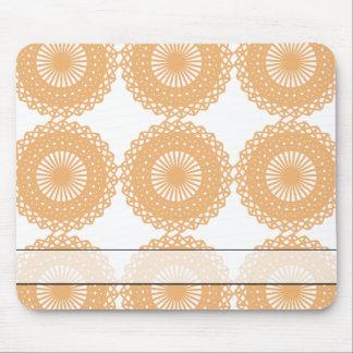 Tan Color Lace Pattern. Mouse Pad