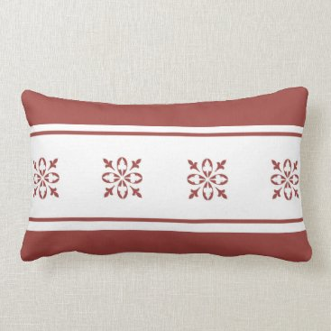 Aztec Themed Tan Colored Moroccan French Damask Lumbar Pillow