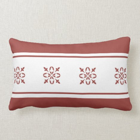Tan Colored Moroccan French Damask Lumbar Pillow