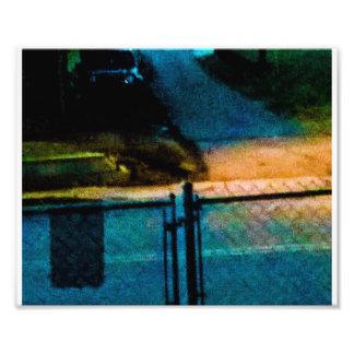 Tan colorido en las calles crepusculares impresiones fotograficas