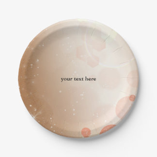 Tan Coral & Cream Glamour Party Birthday Plates