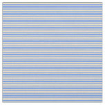 [ Thumbnail: Tan & Cornflower Blue Striped/Lined Pattern Fabric ]