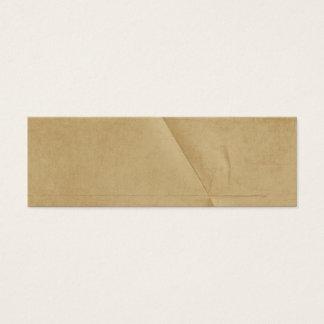 Tan Cream Folded Creased Background Mini Business Card