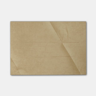 Tan Cream Folded Creased Background Post-it® Notes