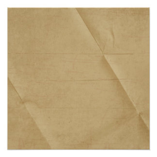 Tan Cream Folded Creased Background Poster